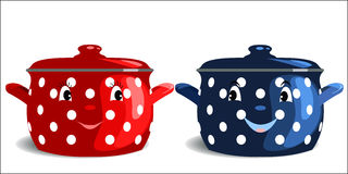 Two saucepans Stock Photography