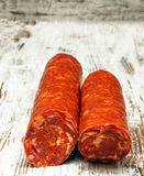 Two sausage casings Stock Image