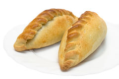 Two sausage-rolls Royalty Free Stock Images