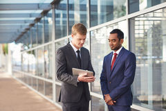 Two savvy business minds on the project Stock Photo
