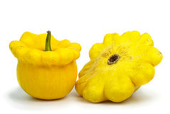 Two scallop squash vegetables Stock Photography