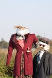 Two scarecrows Stock Image
