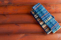 Two scarves with patterned coloring Royalty Free Stock Photos