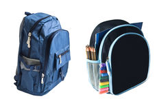 Two school backpacks Royalty Free Stock Images