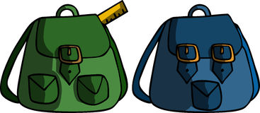 Two school bag Royalty Free Stock Photo