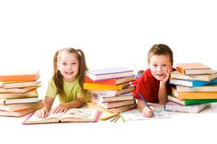 Two schoolkids Stock Photography