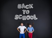 Two schoolkids Royalty Free Stock Images