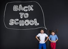 Two schoolkids Royalty Free Stock Photos