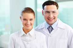 Two scientists Stock Images