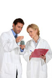 Two scientists in laboratory Stock Photography