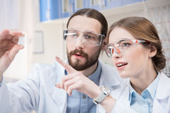 Two scientists at work Stock Image