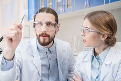 Two scientists at work Royalty Free Stock Images