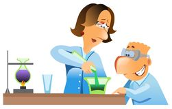 Two scientists working in a laboratory. Stock Photo