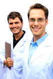 Two Scientists working together Royalty Free Stock Photos