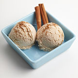 Two scoops of cinnamon ice cream Royalty Free Stock Photos