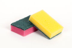 Two scouring sponges Stock Photos
