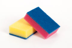Two scouring sponges Stock Images