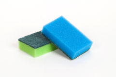 Two scouring sponges Royalty Free Stock Photos