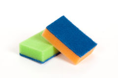 Two scouring sponges Stock Image