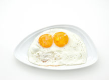 Two scrambled eggs Stock Images