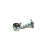 Two screw. Close up, macro, white, washer Stock Photo