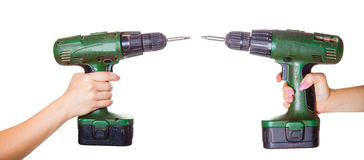 Two screw gun Royalty Free Stock Photos