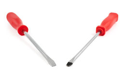 Two screwdriver composition isolated Stock Image