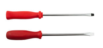 Two screwdrivers isolated Stock Photos