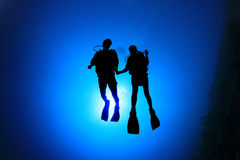 Two Scuba Divers Royalty Free Stock Images