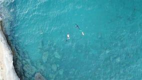 Scuba divers in Corsica stock image