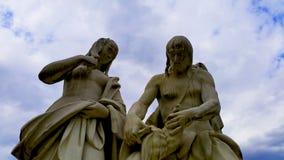 Two sculptures. Sculptures in the garden of Belveder.Vienna,Austria Stock Image