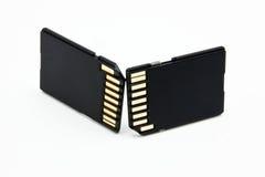 Two SD cards Stock Photos