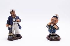 Two sea captain Stock Photos