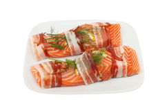Two sea trout fillets Royalty Free Stock Image