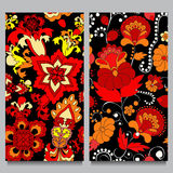 Two  seamless pattern. oriental design Stock Images