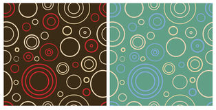 Two seamless retro patterns. Seamless retro patterns in two color variants royalty free illustration