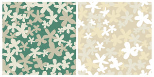 Two seamless retro patterns Royalty Free Stock Photos