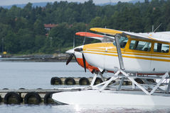 Two seaplanes Royalty Free Stock Image