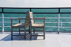 Two seat benches. On a deck of a boat Stock Image