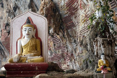 Two seated Buddhas Royalty Free Stock Image