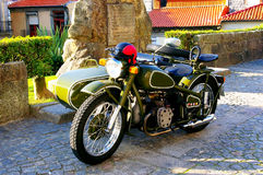 Two seater sidecar motorcycle Stock Image