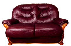 Two Seater Sofa isolated on white, with clipping path Stock Photography