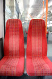Two seats on a commuter train Royalty Free Stock Photo