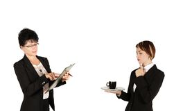 two secretaries Royalty Free Stock Images