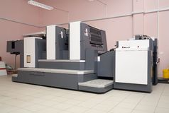 Two-section offset printed machine Stock Photos
