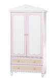 Two-section wardrobe, with clipping path Stock Photo