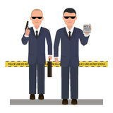 Two security agents Stock Photo