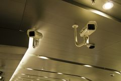 Two security camera Royalty Free Stock Photos