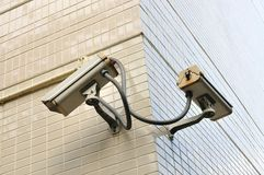 Two security Camera or CCTV Royalty Free Stock Photo