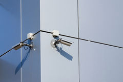 Two security cameras Royalty Free Stock Photos